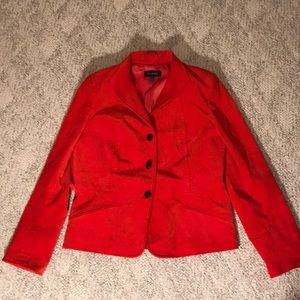 Talbots burnt orange velvety blazer sz 12